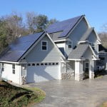 Solar powered home built by Caldera Construction